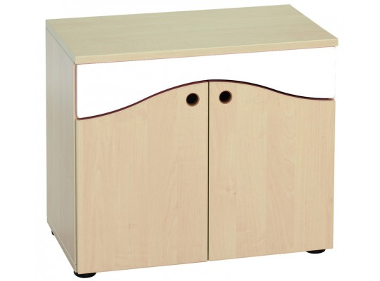 Prvek herní-Kuchyň dětská-skříň dvoudveřová-65x55x38cm-dekor bříza