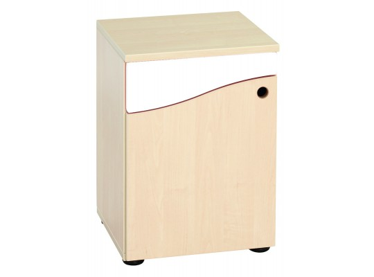 Prvek herní-Kuchyň dětská-skříň nízká-40x55x38cm-dveře levé-dekor buk