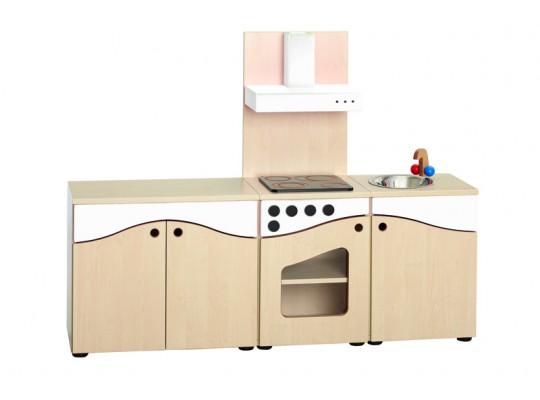 Prvek herní-Kuchyň dětská-sestava-146x110x38-dekor buk