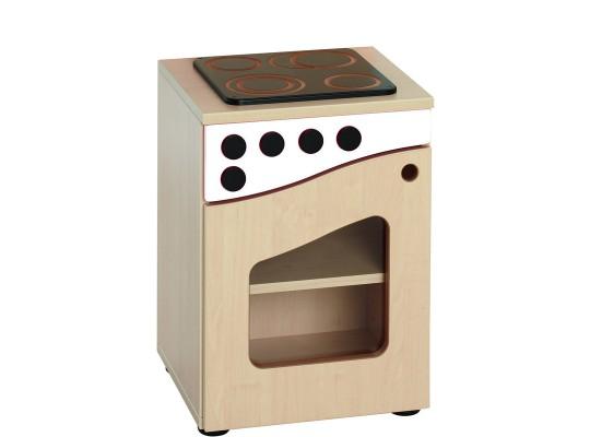 Prvek herní-Kuchyň dětská-sporák-40x55x38cm-dveře levé-dekor bříza