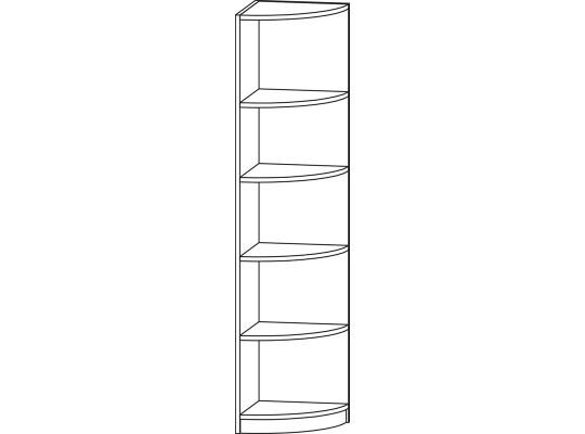 Regál rohový-42x175x42cm-typ 6-dekor buk