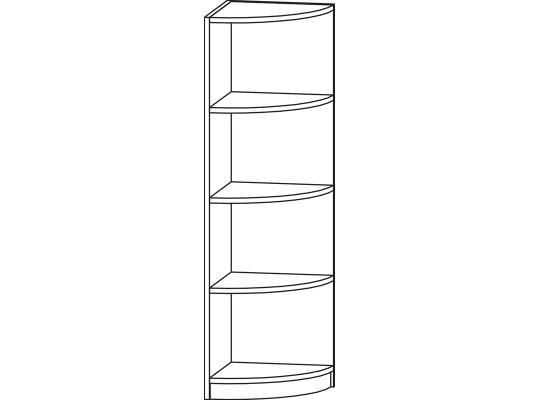Regál rohový-42x120x42cm-typ 4-dekor bříza