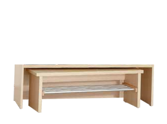 Šatna lavice L3150 Š140cm-dekor bříza