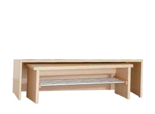 Šatna lavice L390 Š80cm-dekor bříza