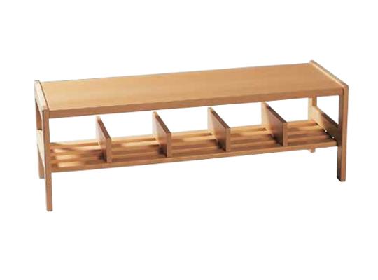 Šatna-lavice/přihrádky 140x34x32cm-7 přihrádek