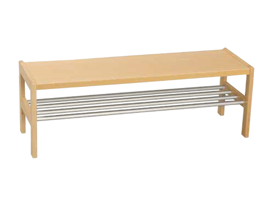 Šatna-lavice/rošt nerezový 100x42x32cm-pro 5 dětí