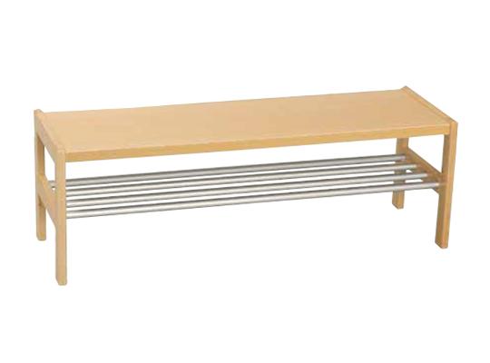 Šatna-lavice/rošt nerezový 140x42x32cm-pro 7 dětí