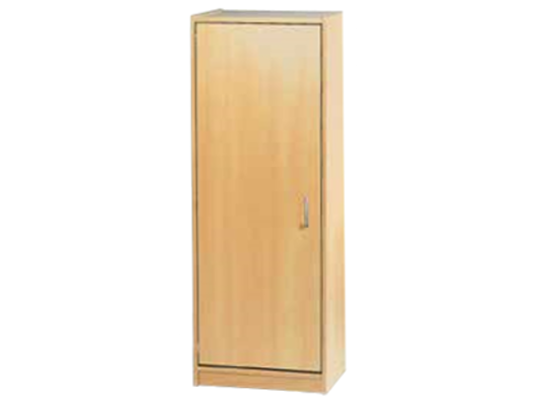 Skříň-sokl-50x140x42cm-dveře levé-police 3-dekor bříza