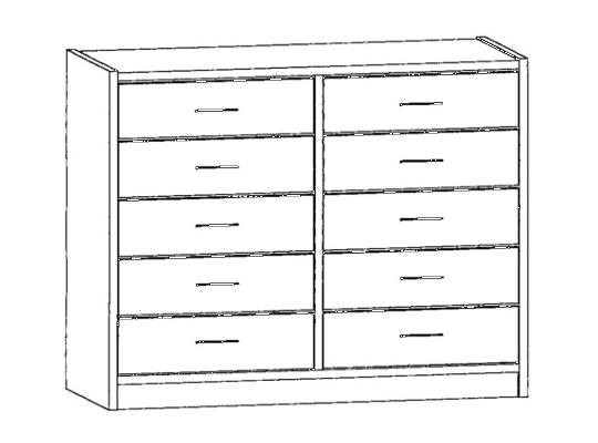 Skříň spodní-sokl-100x82x42cm-zásuvka 10-dekor buk