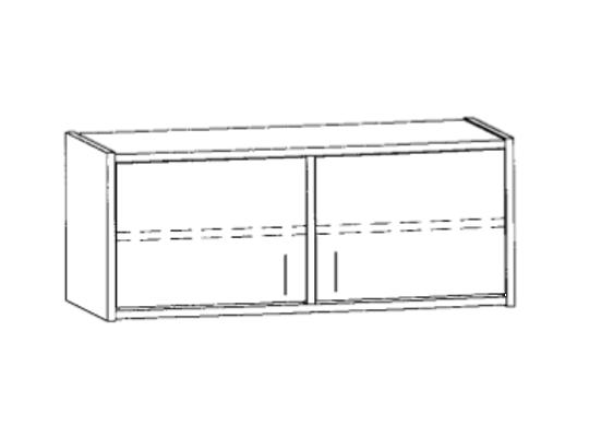 Skříň horní-100x46x42cm-dveře 2-dekor buk