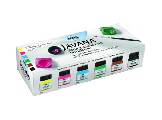 Barvy na hedvábí Javana