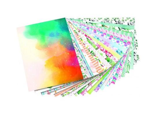 Blok motivy akvarelové