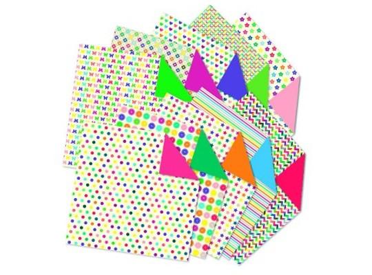 Papír na skládání mini-mix-80g/m2-15x15cm