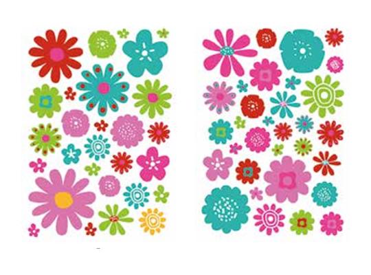 Samolepky květiny