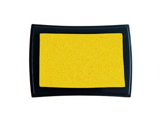 Polštářek razítkovací na textil-žlutá
