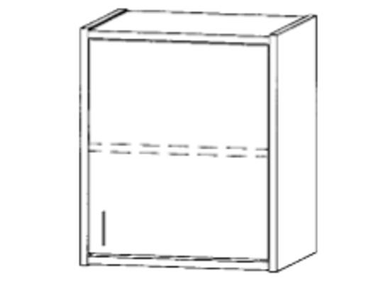 Skříň horní-50x60x42cm-dveře pravé-police 1-dekor bříza