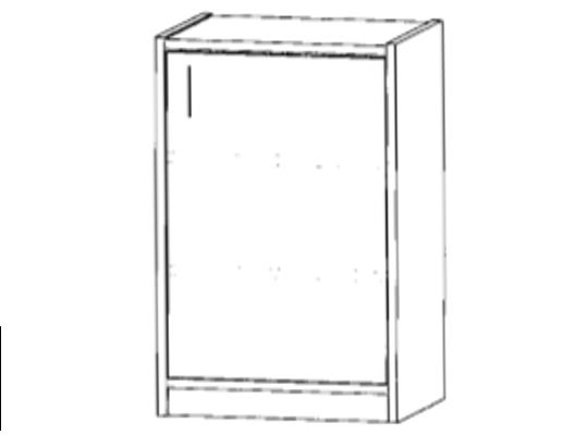 Skříň spodní-sokl-50x82x42cm-dveře pravé-police 2-dekor buk