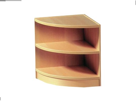 Regál rohový-42x46x42cm-typ 1-dekor buk