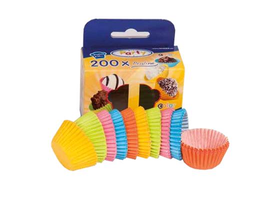 Košíček cukrářský barevný-malý