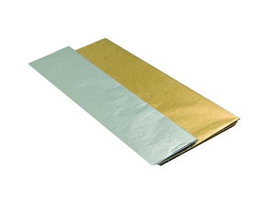 Papír hedvábný-stříbrný