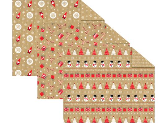 Fotokarton vánoční 49,5x68cm-motivy-300g/m2
