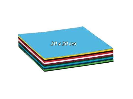 Papír barevný 20x20cm