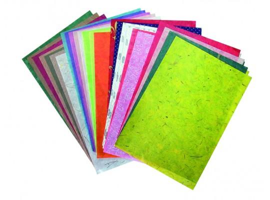 Papír přírodní-sada vzorová