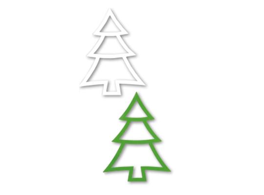 Stromeček z papíru-obrys II.
