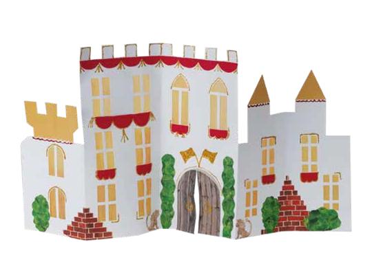 Hrad z papíru věž-bílý