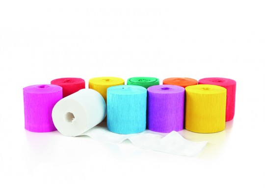 Papír krepový-10mx5cm-roličky