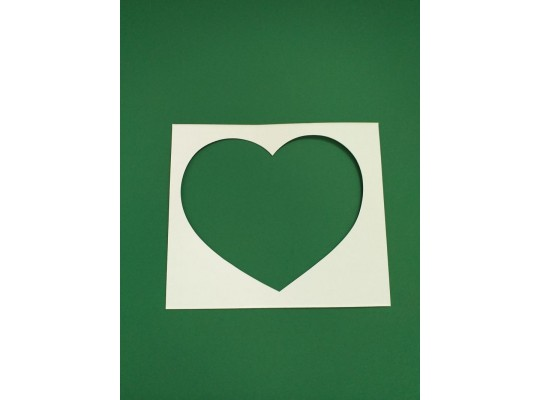 Šablona z lepenky-Srdce-sada