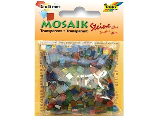 Kamínky transparentní-sada mozaika-malá