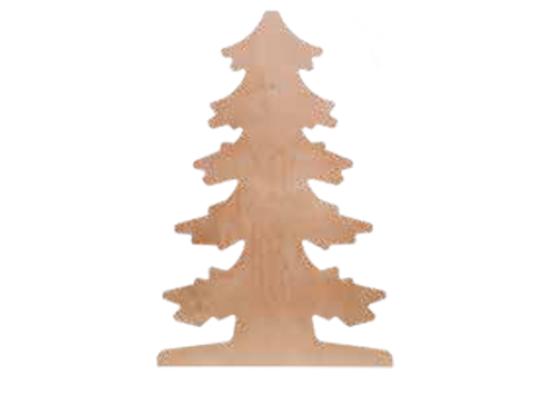 Strom dřevěný na zeď jehličnatý