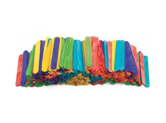 Špachtle dřevěné široké-barevné