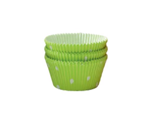 Košíček cukrářský velký-zelený s puntíky-5x2,5cm