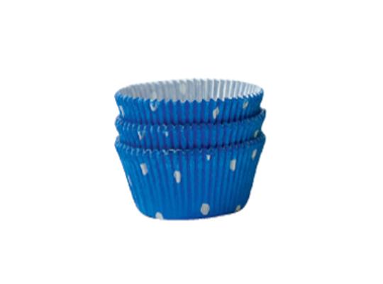 Košíček cukrářský velký-modrý s puntíky-5x2,5cm