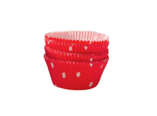 Košíček cukrářský velký-červený s puntíky-5x2,5cm