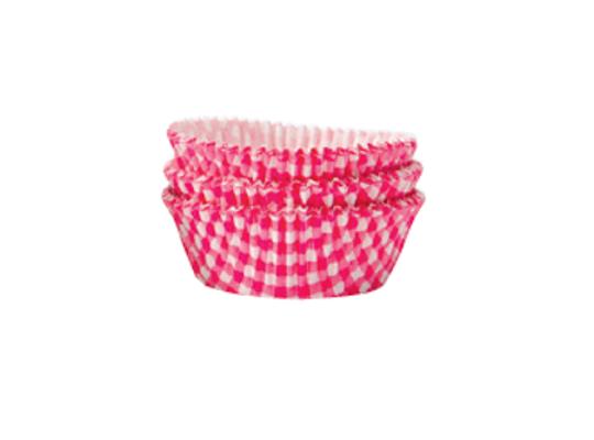 Košíček cukrářský velký-káro růžové-5x2,5cm