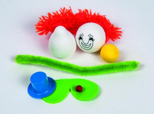 Sada kreativní vatová-klaun