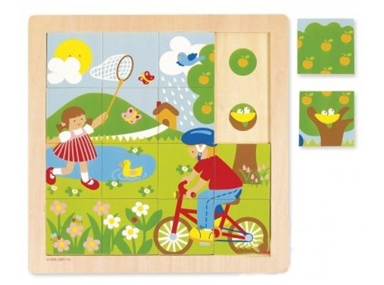 Puzzle dřevěné-roční období-jaro