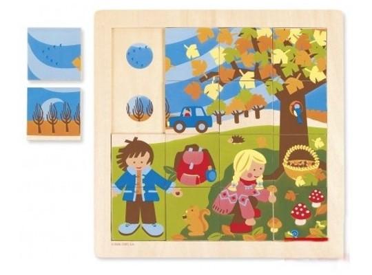 Puzzle dřevěné-roční období-podzim