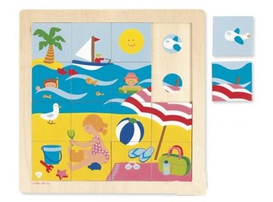 Puzzle dřevěné-roční období-léto