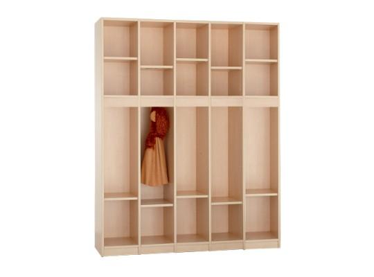 Díl šatní-skříň S5150-otevřená-150x170x40cm-dekor bříza