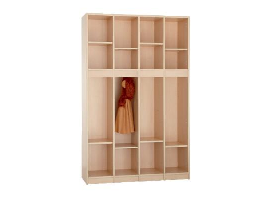 Díl šatní-skříň S4120-otevřená-120x170x40cm-dekor bříza