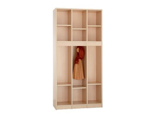 Díl šatní-skříň S390-otevřená-90x170x40cm-dekor bříza