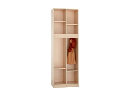 Díl šatní-skříň S260-otevřená-60x170x40cm-dekor bříza