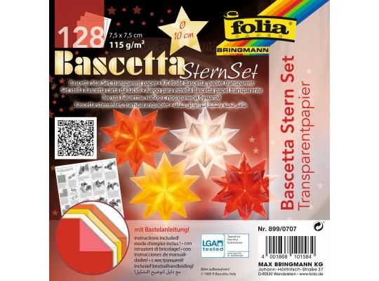 Papír transparentní-Origami Bascetta-hvězda z papíru