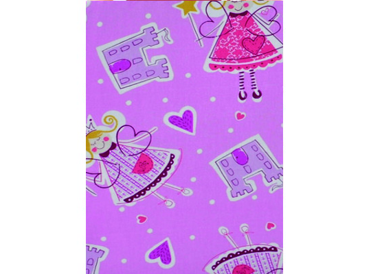 Látka bavlna-potahová-princezna-růžová