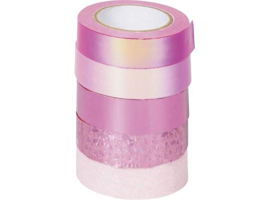 Páska dekorační Washi Tape-mix růžový