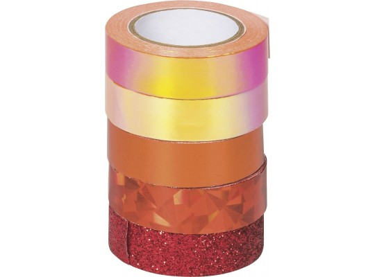 Páska dekorační Washi Tape-mix červený